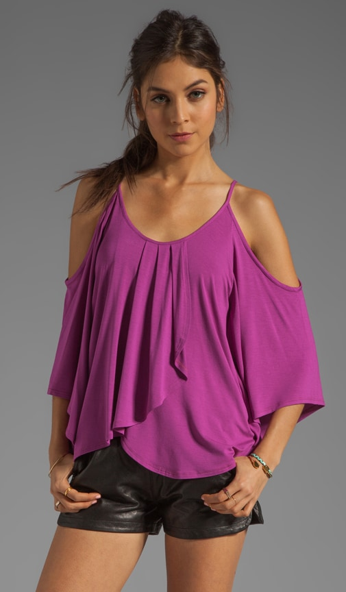 Tanya Open Shoulder Batwing Top