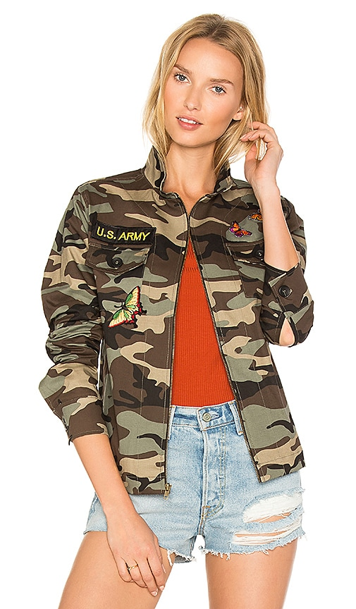 JET John Eshaya Camo Jacket in Green