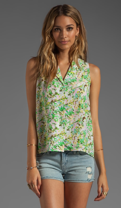Fanny Poison Flower Sleeveless Blouse