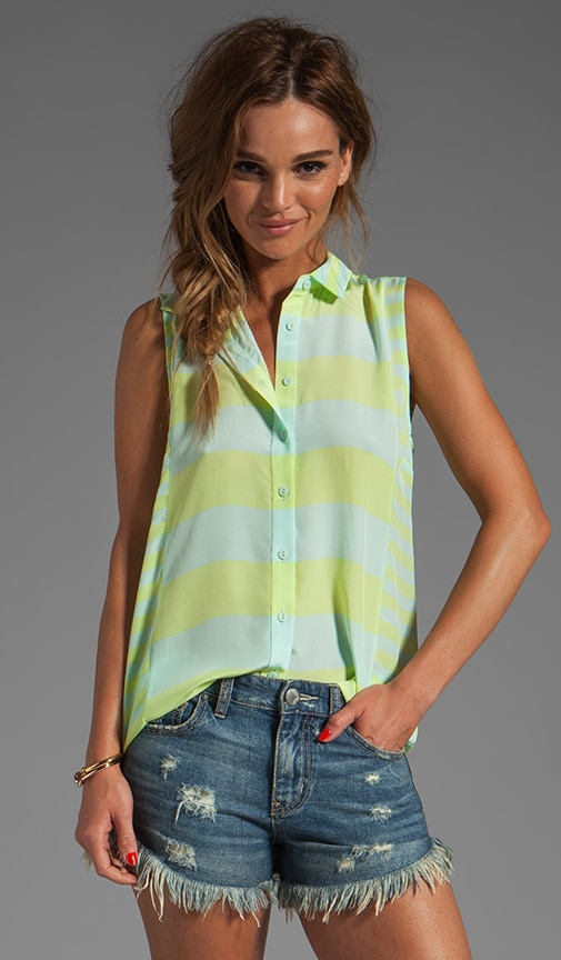 Edith Duo Stripe Sleeveless Blouse