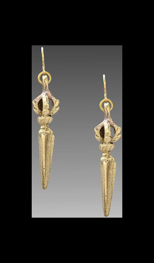 Vanessa Mooney Blade Of The Crown Earrings