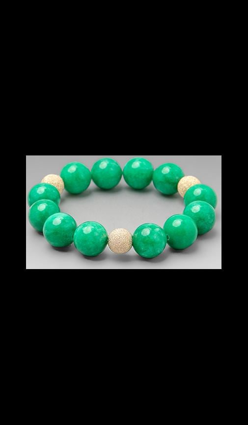 JNB Green Jade Smooth Bracelet
