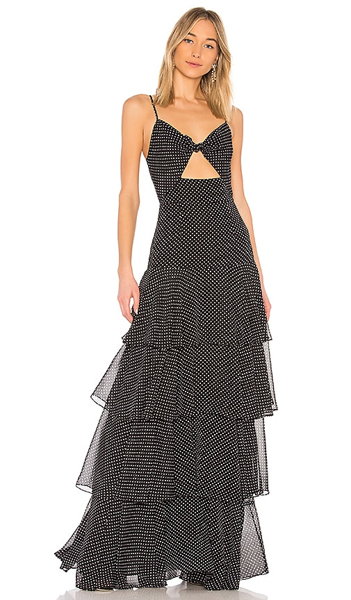 Jill by Jill Stuart Cut Out Dress in Black