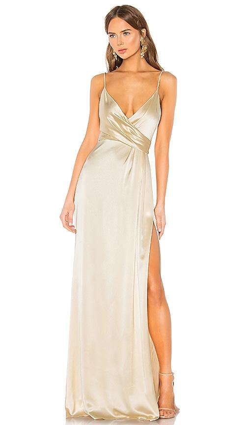 Side Draped Slip Gown