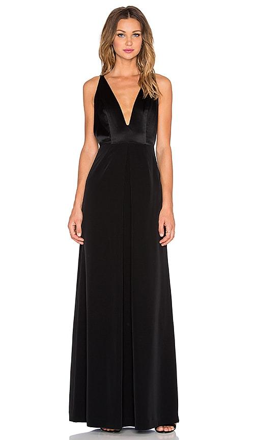 1bf3a9b6f6a8 JILL JILL STUART Deep V Gown in Black