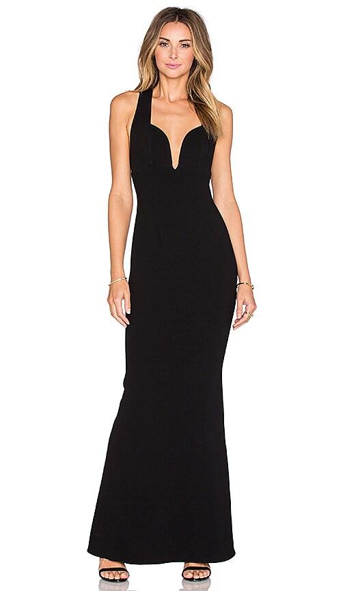 JILL JILL STUART Fitted Gown in Black