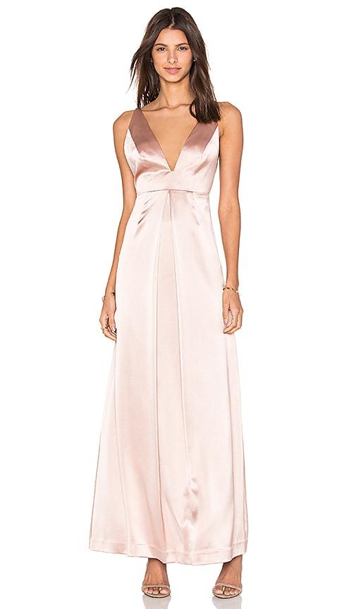 JILL JILL STUART V Front Gown in Rosy Nude