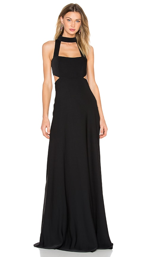JILL JILL STUART Cut Out Gown in Black