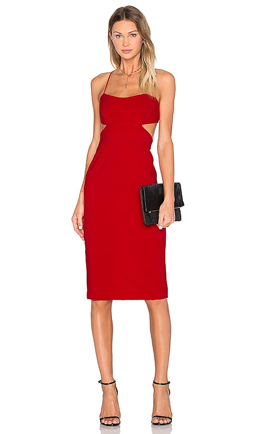 JILL JILL STUART Cutout Midi Dress in Red