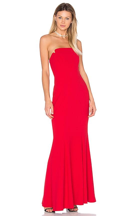 JILL JILL STUART Strapless Gown in Red