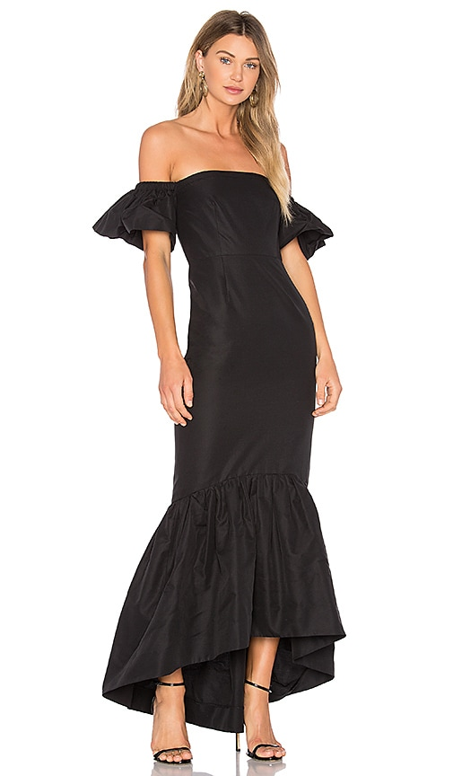 Ruffle Off the Shoulder Maxi Dress