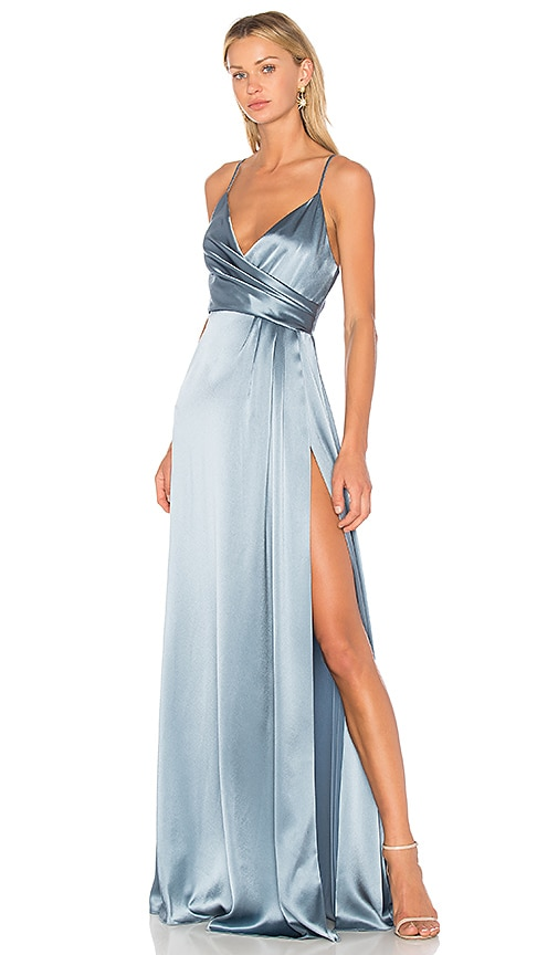 JILL JILL STUART Wrap Gown in Blue