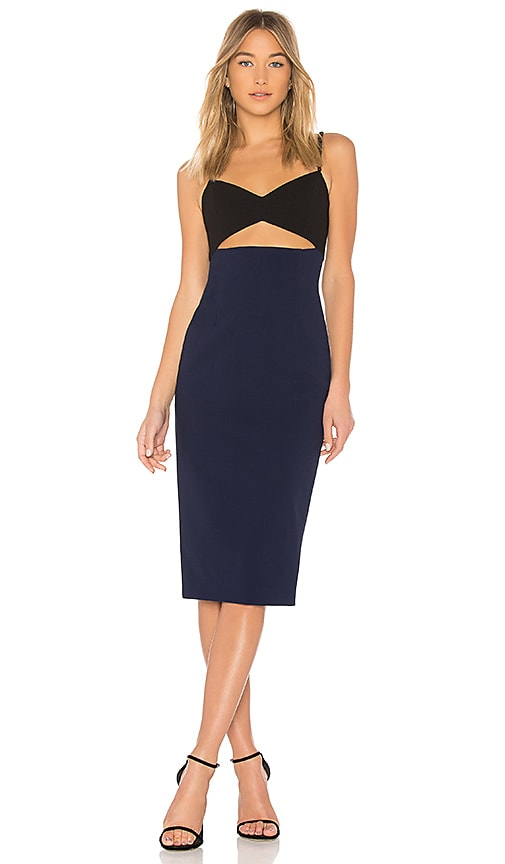JILL JILL STUART Cut Out Midi Dress in Black