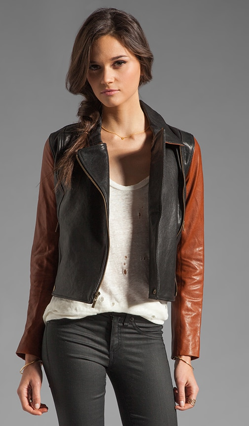 Washed Italian Lamb Skin Leather Jacket