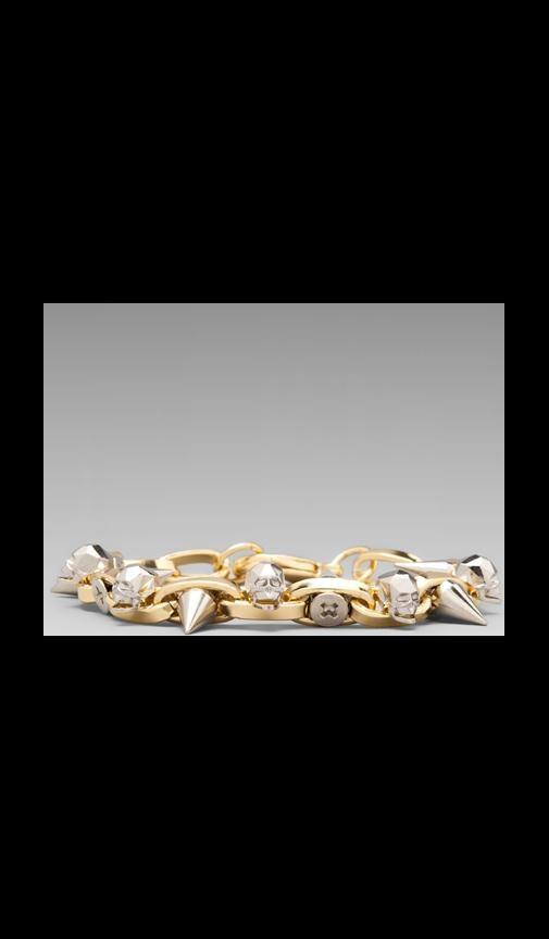 Skull Bracelet with Spikes