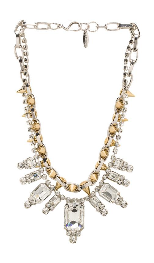 Baroque Crystal & Spike Necklace