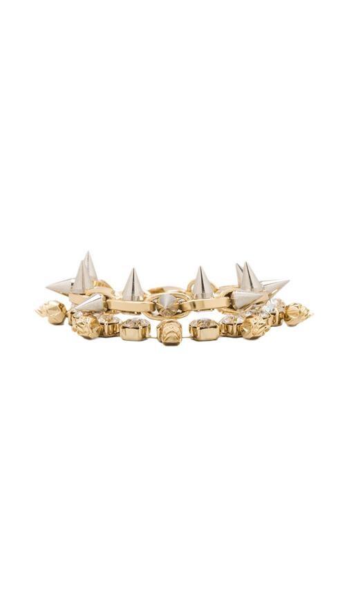 Crystal Skull & Spike Bracelet