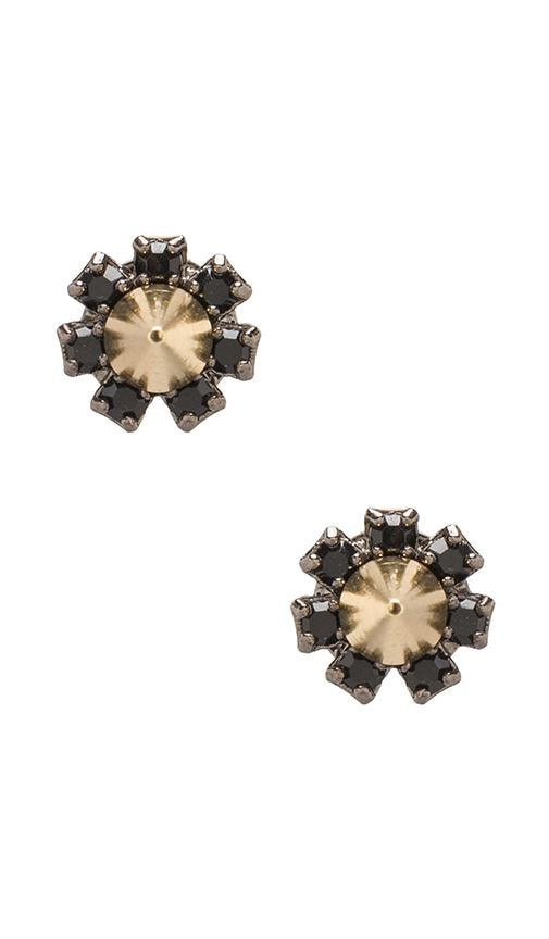 Crystal Stud Earrings w/ Spikes