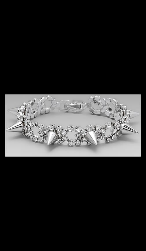 Crystal & Spike Bracelet