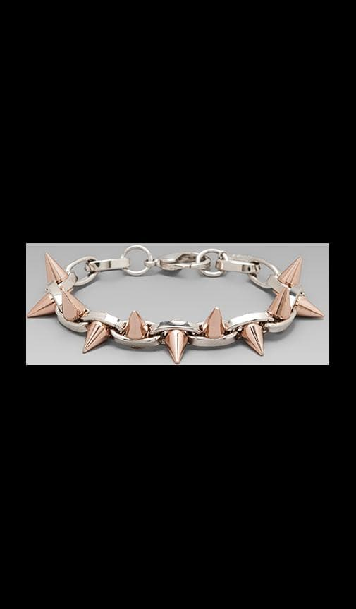 Double Row Spike Bracelet