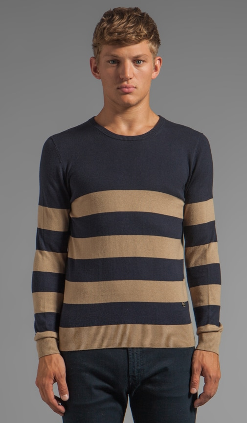 Terry Stripe Sweater
