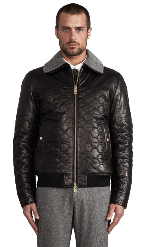 Cevin Quilted Leather Jacket