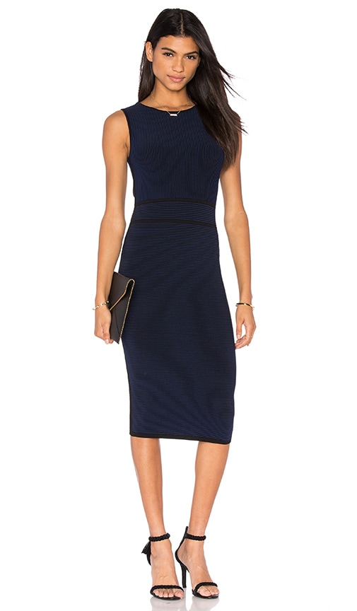 John & Jenn by Line Chet Midi Dress in Navy