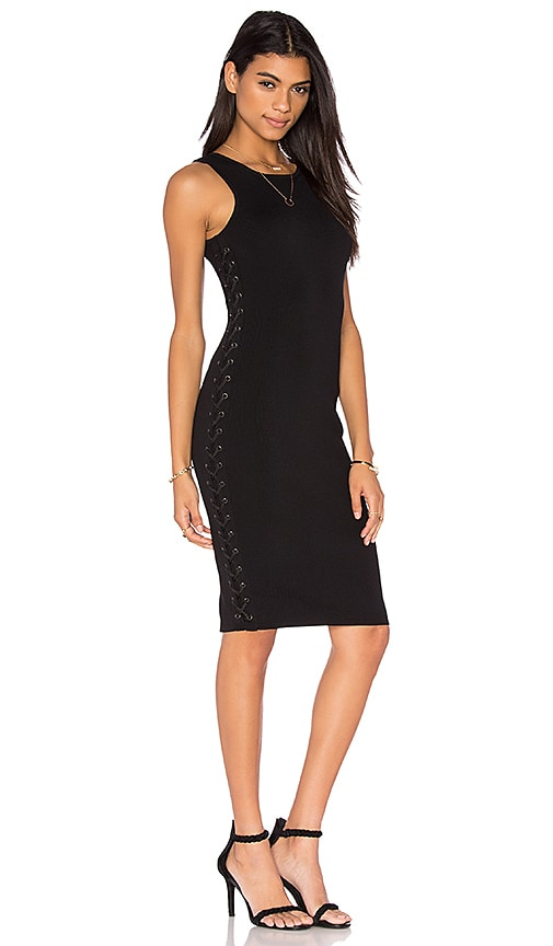 John & Jenn by Line Charlotte Midi Dress in Caviar