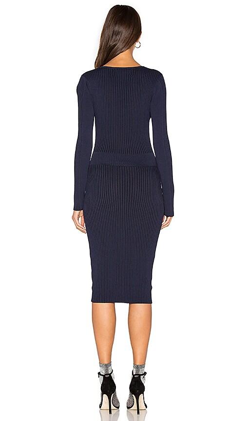 b9e076f1686 lovely John   Jenn by Line Faye V Neck Sweater Dress in Deep Sea ...