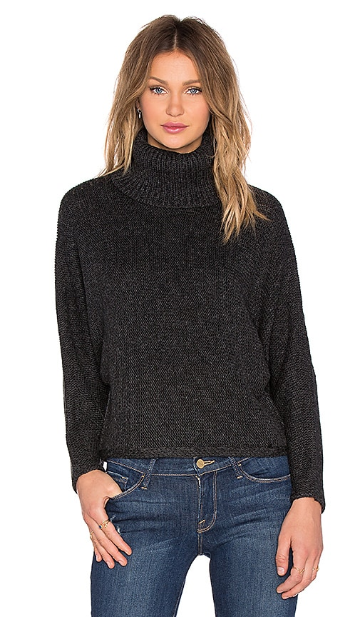 John & Jenn by Line Comet Turtleneck Sweater in Achromatic