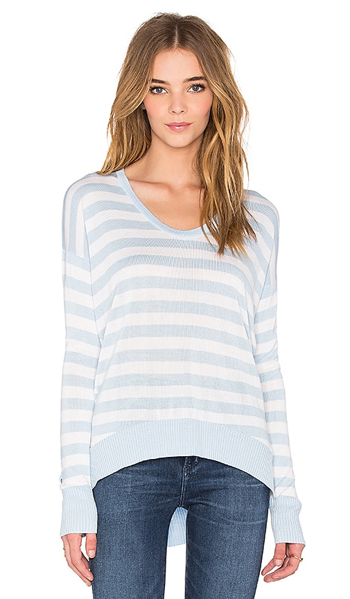 John & Jenn by Line Jeremiah Scoop Neck Sweater in Head in Blue