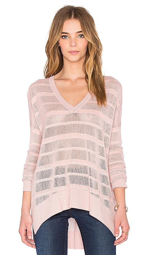 John & Jenn by Line Mason 3/4 Sleeve Sweater in Rose Dust