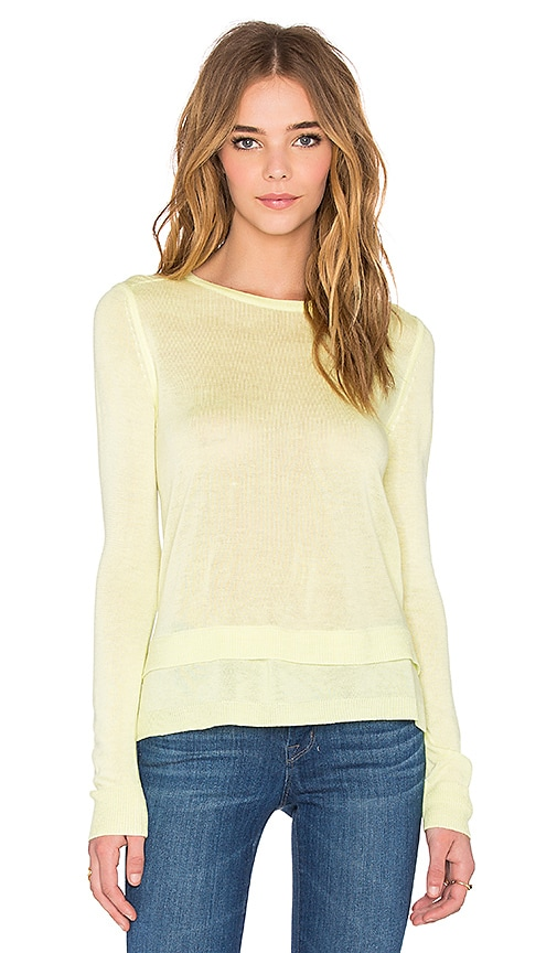 John & Jenn by Line Liam Crew Neck Sweater in Yellow
