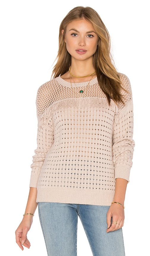 John & Jenn by Line Rumi Fringe Sweater in Blush