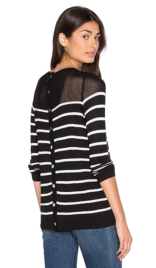 John & Jenn by Line Calida Stripe Sweater in Black & White