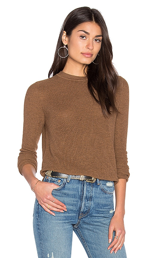 John & Jenn by Line Misha Crew Neck Sweater in Brown