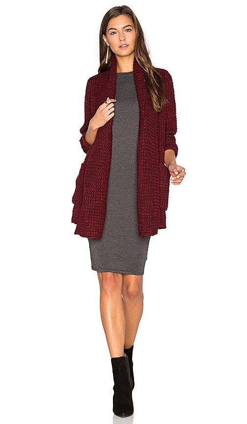 John & Jenn by Line Manon Cardigan in Red