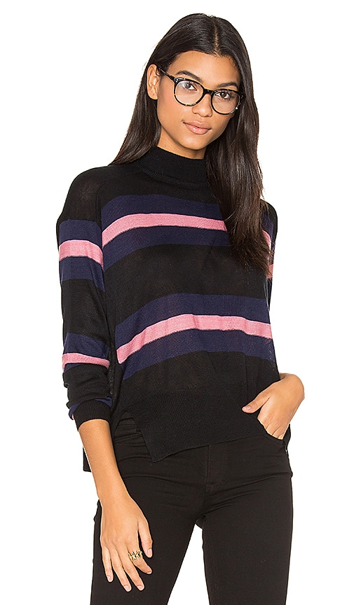 John & Jenn by Line Clo Stripe Sweater in Navy