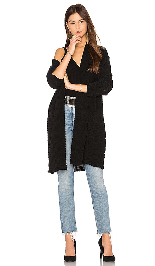 John & Jenn by Line Felix Cardigan in Black