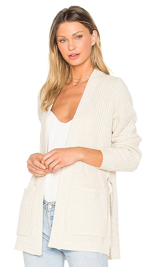 John & Jenn by Line Stella Long Cardigan in Beige