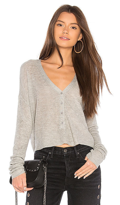 John & Jenn by Line Isla Crop Cardigan in Gray