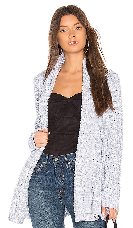 John & Jenn by Line Manon Cardigan in Light Gray
