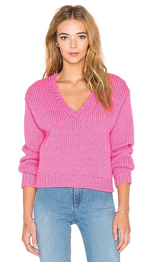 John & Jenn by Line Pierce Sweater in Pure Pink