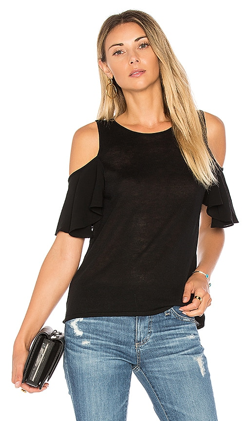 John & Jenn by Line Niamh Cold Shoulder Top in Black