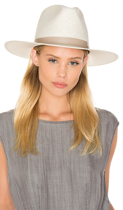 Janessa Leone Aster Tall Crown Panama Hat in Tan