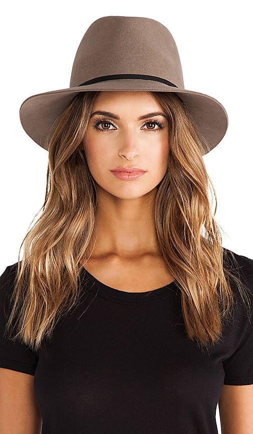Janessa Leone Lola Hat in Brown