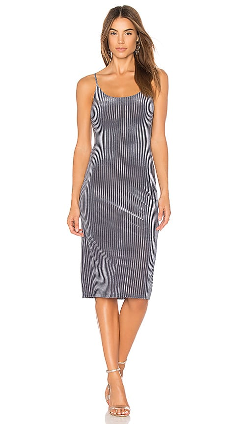 J.O.A. Slip Dress in Slate