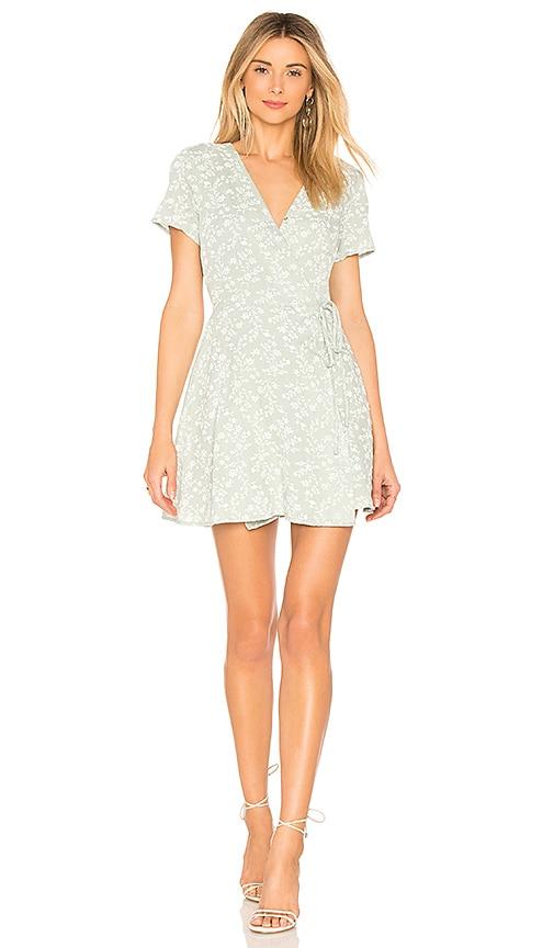 J.O.A. Wrap Dress in Mint