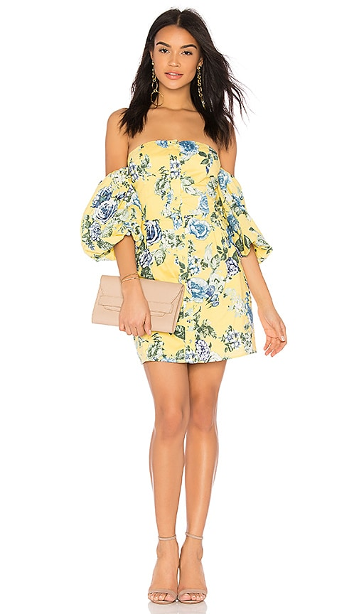 J.O.A. Off The Shoulder Dress in Yellow