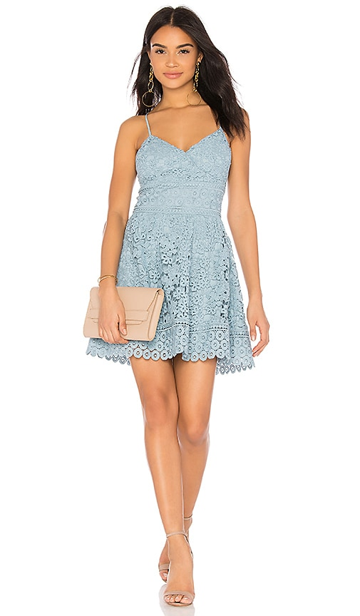 J.O.A. Fit & Flare Dress in Blue
